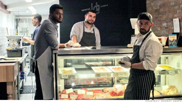 New York-Russell Khan, Sulman Afridi, and Khalid Latif (left to right) at New York City's Honest Chops, the country's first halal whole animal butchery-jpeg.image